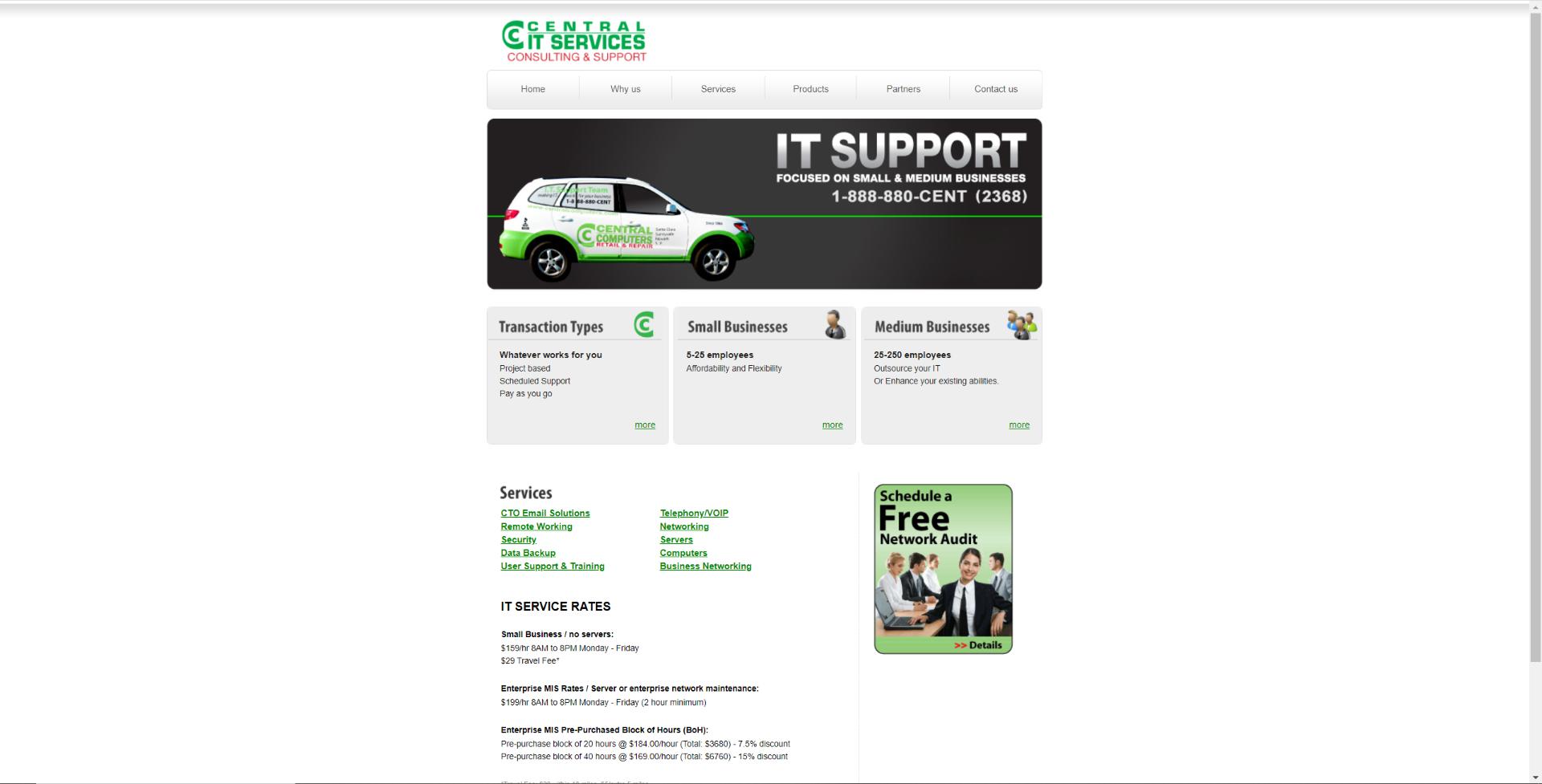 Central IT Webpage