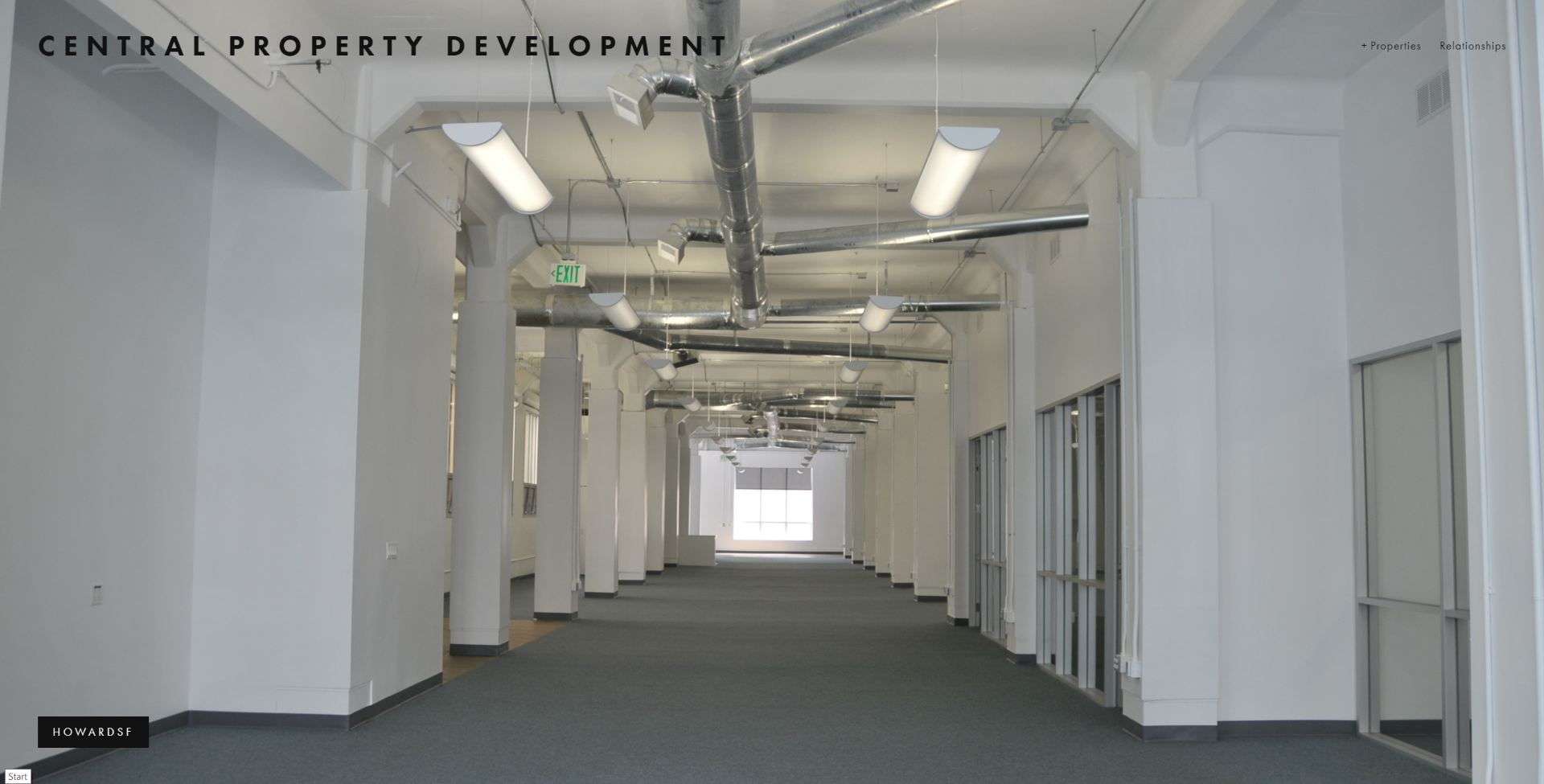 Central Property Development website