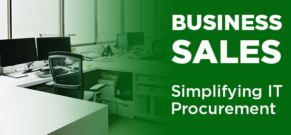 We sell business IT products
