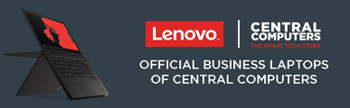Lenovo - the official business laptop partner of Central Computers
