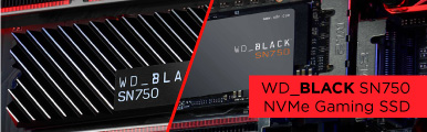 Banner image for WD Black SN750 gaming SSDs