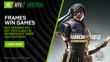 Buy GeForce RTX 20 videocards, get Rainbow Six Siege Gold Edition